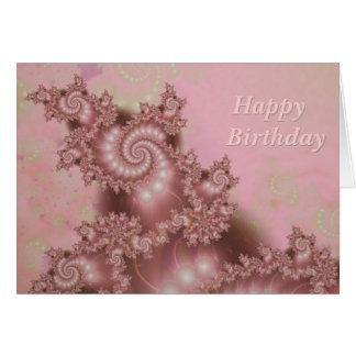 Feliz cumpleaños en varias idiomas dentro tarjeta