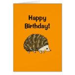 ¡Feliz cumpleaños! (erizo) Tarjeta De Felicitación
