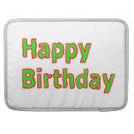 Feliz cumpleaños - escritura artística del texto funda para macbook pro
