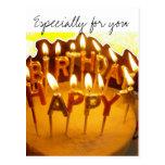Feliz cumpleaños, especialmente para usted postales