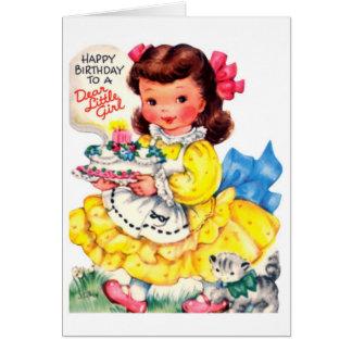 Feliz cumpleaños - estimada niña tarjeta de felicitación