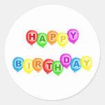 Feliz cumpleaños etiqueta