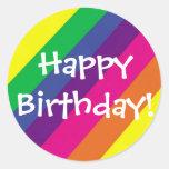 ¡Feliz cumpleaños! Etiqueta Redonda