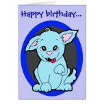 Feliz cumpleaños extraño pero adorable tarjeta