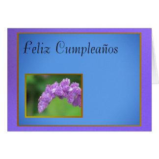 Feliz Cumpleaños - Flor púrpura Card