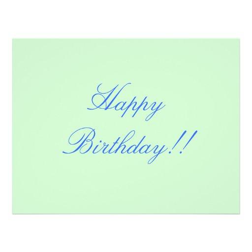 "¡Feliz cumpleaños!! Folleto 8.5"" X 11"""
