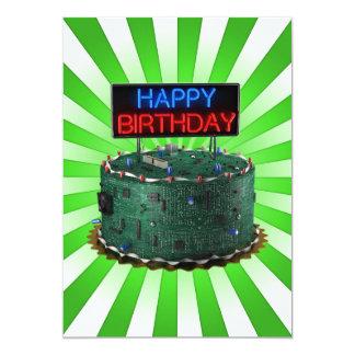 Feliz cumpleaños, friki invitación 12,7 x 17,8 cm