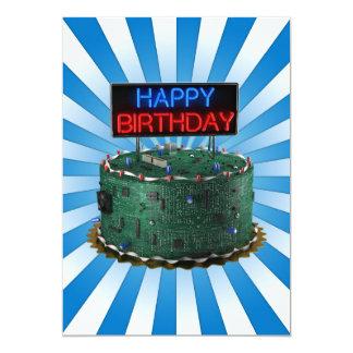 "Feliz cumpleaños, friki invitación 5"" x 7"""