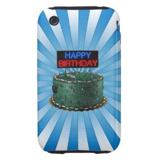 Feliz cumpleaños friki iPhone 3 tough cobertura