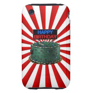 Feliz cumpleaños friki tough iPhone 3 fundas