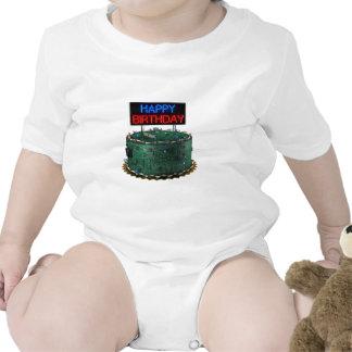 Feliz cumpleaños friki traje de bebé