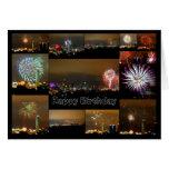 ¡Feliz cumpleaños! Fuegos artificiales de Kansas C Felicitaciones