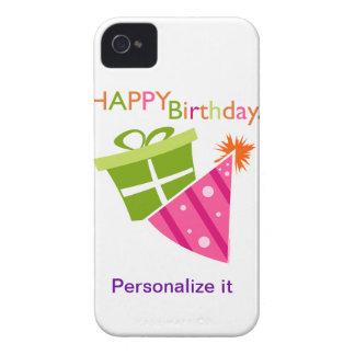 Feliz cumpleaños iPhone 4 Case-Mate cobertura
