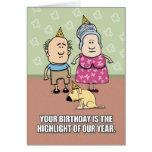 Feliz cumpleaños - gente del fiesta felicitación