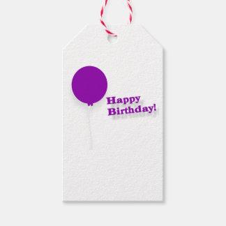 Feliz cumpleaños Globo-Modelado púrpura Etiquetas Para Regalos