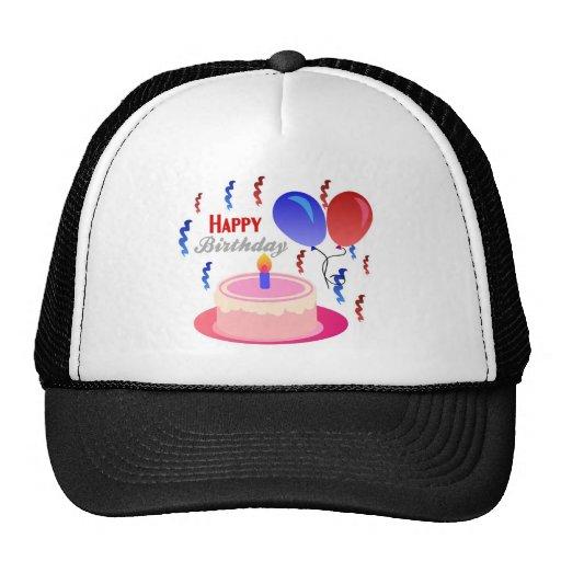 Feliz cumpleaños gorro de camionero