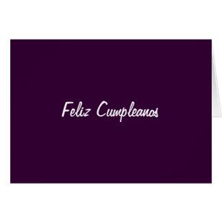 FELIZ CUMPLEANOS (HAPPY BIRTHDAY) GREETING CARD