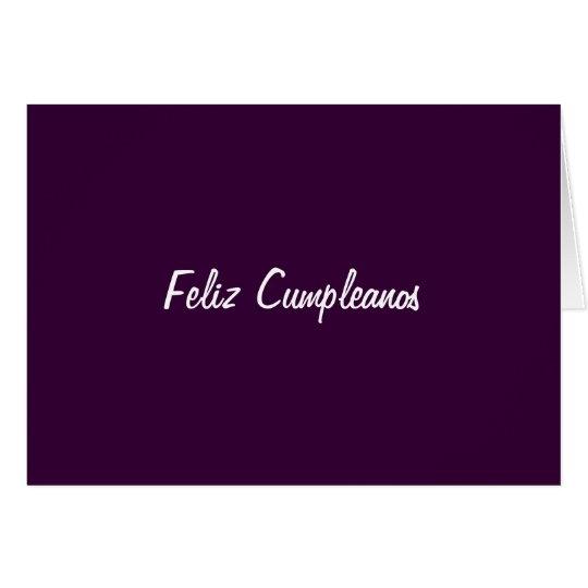 FELIZ CUMPLEANOS (HAPPY BIRTHDAY) CARD