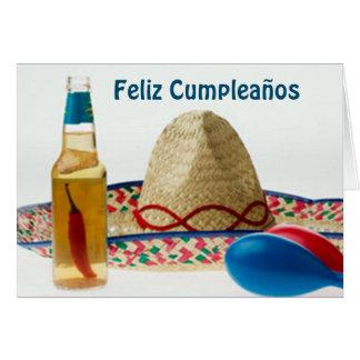 FELIZ CUMPLEANOS-HAPPY BIRTHDAY SPANISH CARD
