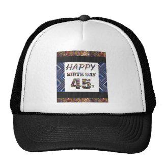 feliz cumpleaños happybirthday 45 cuarenta y cinco gorro de camionero