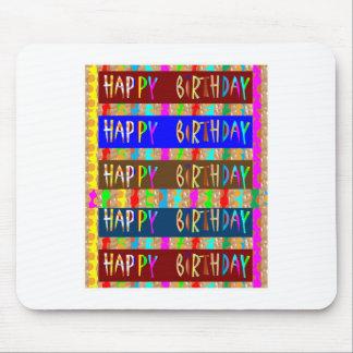 FELIZ cumpleaños HappyBirthday: Escritura Alfombrilla De Ratón