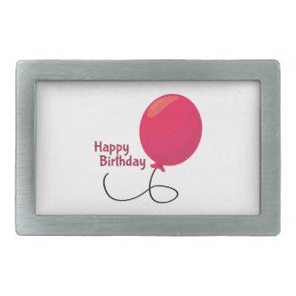 Feliz cumpleaños hebilla cinturon rectangular