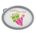 Feliz cumpleaños hebillas cinturón