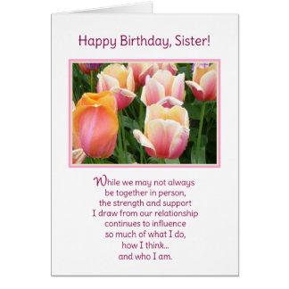 ¡Feliz cumpleaños, hermana! Tarjeta De Felicitación