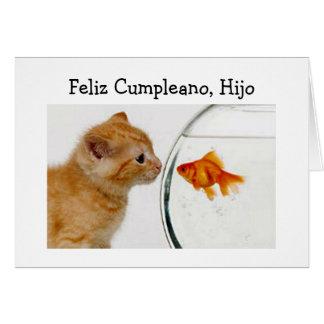 FELIZ CUMPLEANOS, HIJO=HAPPY BIRTHDAY SON GREETING CARD