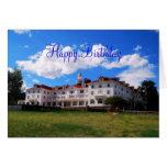 Feliz cumpleaños, hotel de Stanley, Colorado Tarjeta