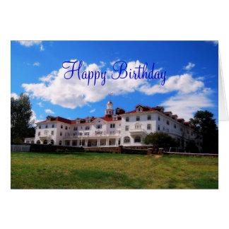 Feliz cumpleaños, hotel de Stanley, Colorado Tarjeta De Felicitación