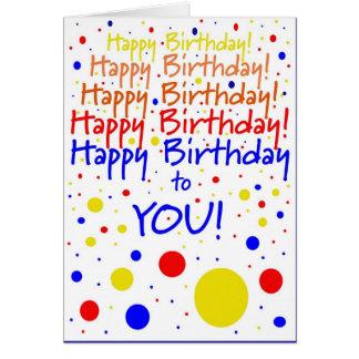 ¡Feliz cumpleaños Humor Tarjetón