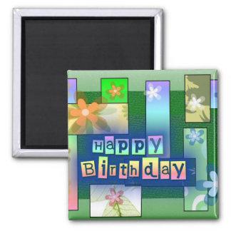 Feliz cumpleaños imán para frigorifico