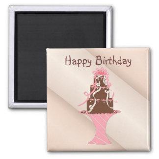 Feliz cumpleaños imán de frigorifico