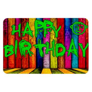 Feliz cumpleaños imanes rectangulares