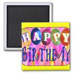Feliz cumpleaños iman de frigorífico