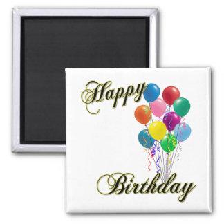 Feliz cumpleaños - imán del personalizar