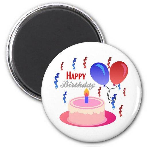Feliz cumpleaños imán redondo 5 cm