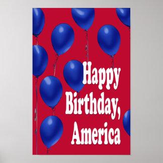 Feliz cumpleaños, impresión de América Poster