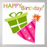 Feliz cumpleaños impresiones