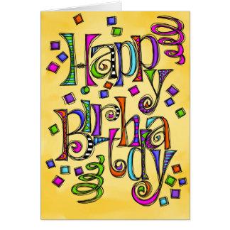 Feliz cumpleaños incompleto tarjeta de felicitación