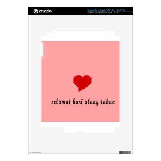 feliz cumpleaños Indonesia iPad 3 Pegatina Skin
