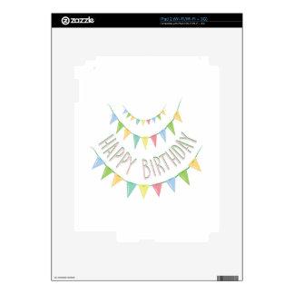 Feliz cumpleaños iPad 2 calcomanía