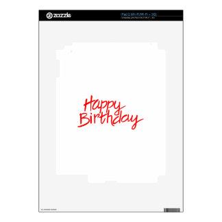 Feliz cumpleaños iPad 2 calcomanías