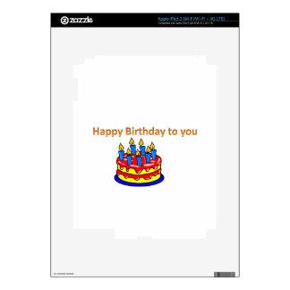 Feliz cumpleaños iPad 3 skins