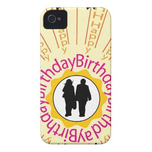 Feliz cumpleaños iPhone 4 Case-Mate fundas