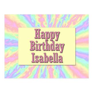 Feliz cumpleaños Isabel Postales