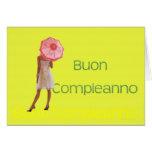 Feliz cumpleaños italiano tarjeta