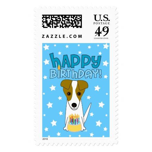 Feliz cumpleaños Jack Russell Terrier Sello