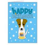 Feliz cumpleaños Jack Russell Terrier Tarjeta De Felicitación